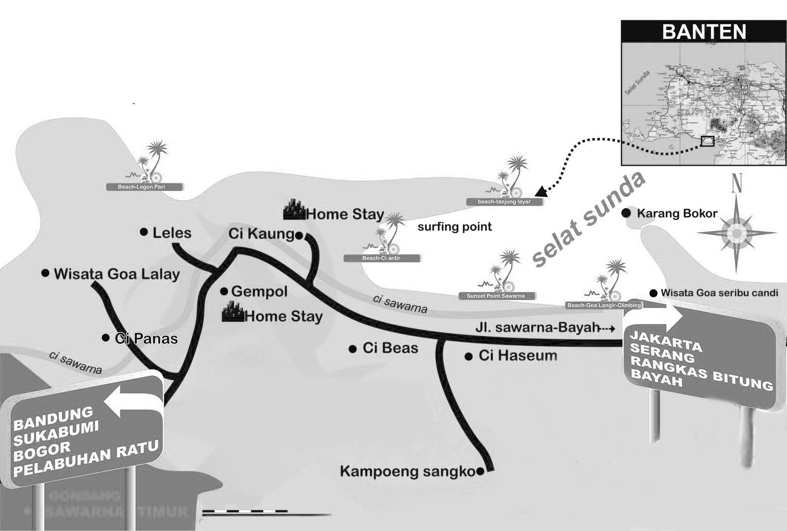 Peta Pantai Sawarna